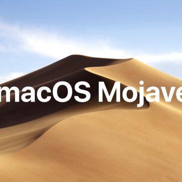 Sortie de macOS Mojave